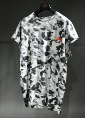 Изображение Футболка черно-белая с пятнистым эффектом MFStore