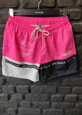 Изображение Шорты плавательные мужские со вставками розовые Mfstore