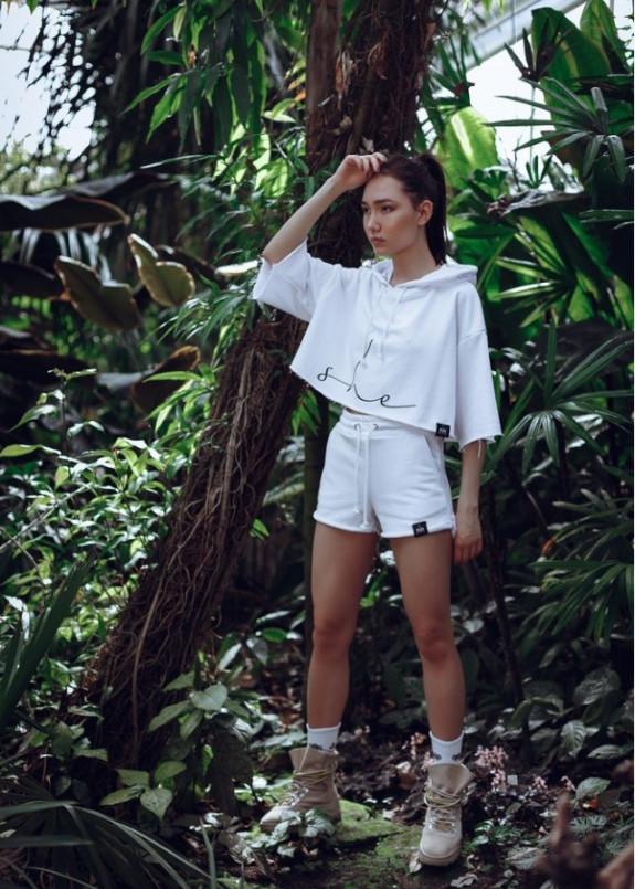 Изображение Шорты женские с высокой посадкой Coconut - белые She Black Limit