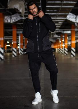 Изображение Мантия с карманами и черным принтом на спине MFStore