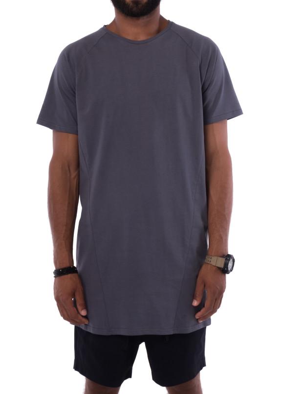 Изображение Удлиненная серая футболка KARAN