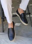 Изображение Слипоны мужские кожаные черные Mfstore