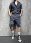 Изображение Комбинезон темно-серый с шортами