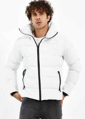 Изображение Куртка белая укороченная с матовой черной молнией MFStore