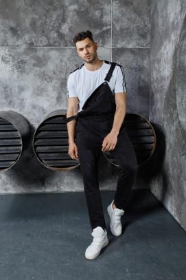 Изображение Комбинезон с карманом на груди черный MFStore