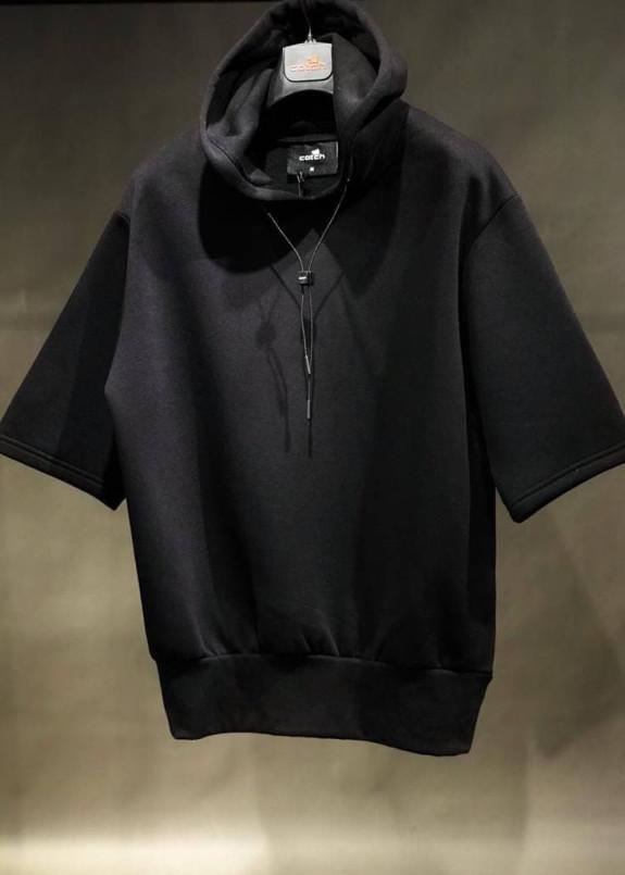 Изображение Худи с коротким рукавом черное MFStore