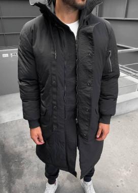 Изображение Пальто зимнее дизайнерское черное MFStore