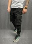 Изображение Джоггеры с накладными карманами по бокам на молниях MFStore