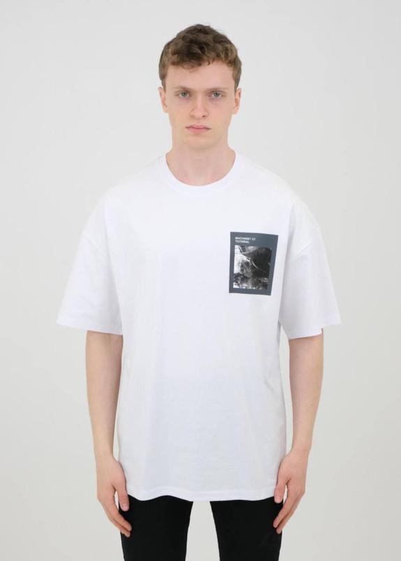Изображение Футболка белая с жен портретом на спине MFStore