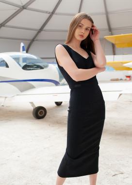 Изображение Стильное силуэтное платье