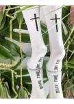 Изображение Носки женские принт Крест белые She Black Limit