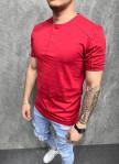 Изображение Стильная базовая футболка красная Mfstore