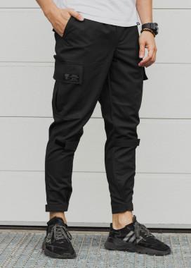 Изображение Зауженные карго штаны черные Симбиот
