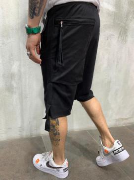 Изображение Шорты дизайнерские с карманом сзади черные MFStore
