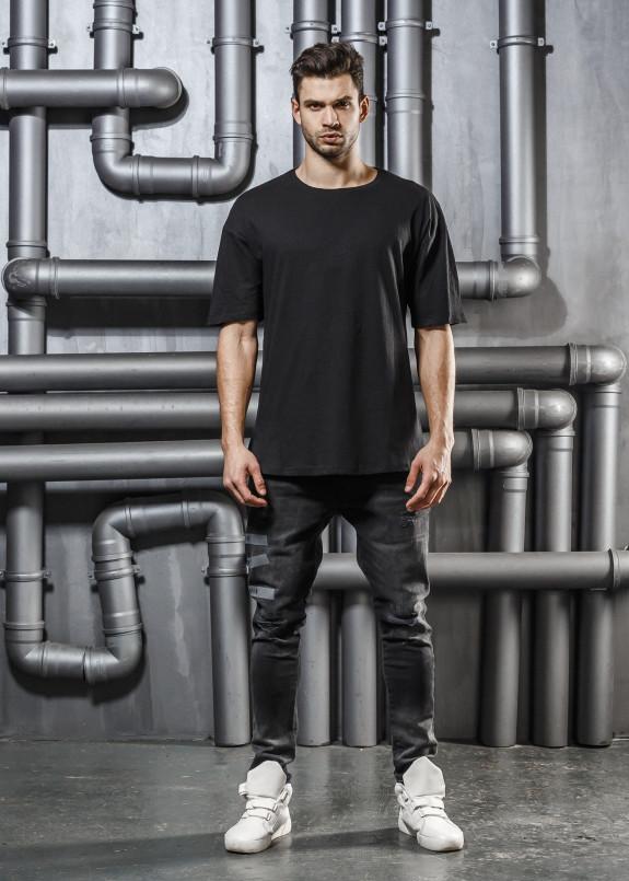 Изображение Футболка черная с карманом на грудях Mfstore
