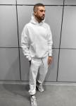 Изображение Оверсайз худи с капюшоном и карманом спереди белое MFStore