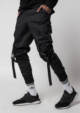 Изображение Зауженные карго штаны черные Ёсимицу