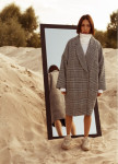 Изображение Пальто женское oversize принт клетка гусиная лапка серое