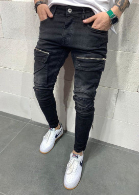 Изображение Мужские джинсы скинни с молниями