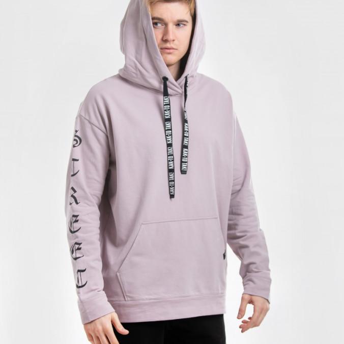 Изображение Худи бледно-фиолетового цвета Street style