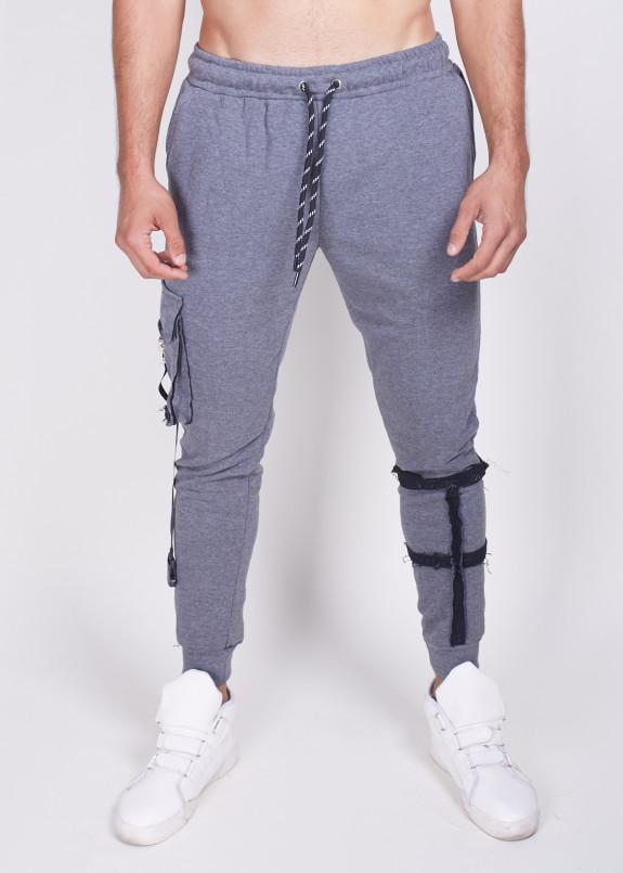 Изображение Зауженные серые штаны с карманом Mfstore