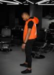 Изображение Жилет мужской принт Х handmade оранжевая