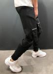 Изображение Штаны с накладными карманами на коленях черные MFStore
