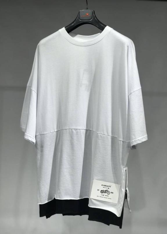 Изображение Базовая белая футболка с удлиненным рукавом MFStore
