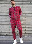 Изображение Спортивный костюм красного цвета в клеточку MFStore