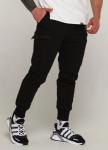 Изображение Зимние карго штаны мужские черные модель Танос