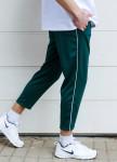 Изображение Спортивные штаны с полосками мужские зеленые Кейдж