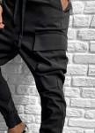Изображение Брюки спортивные с накладными карманами и манжетами на затяжках MFStore