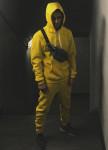 Изображение Штаны из футера с начесом цвета лайм
