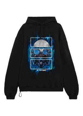 Изображение Худи женское Hinaku Soldier Oversized Black Hood
