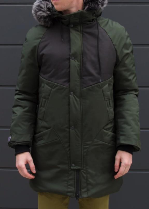 Изображение Зимняя куртка парка мужская хаки водоотталкивающая Taranis