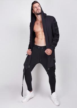 Изображение Мантия мужская с рифлением на рукавах черная
