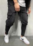 Изображение Брюки спортивные с карманами по бокам и косой молнией MFStore