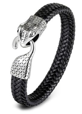 Изображение Браслет Snake кожа черный Fashion