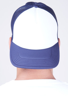 Изображение Кепка мужская сетка белая с синим MFS BRAND