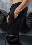 Изображение Штаны с карманами и молниями по бокам черные MFStore