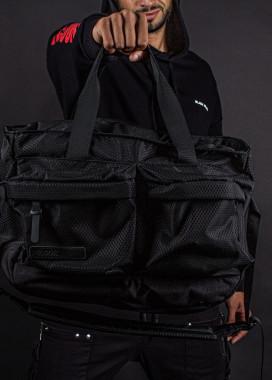 Изображение Сумка большая с двумя накладными карманами черная Pilsok