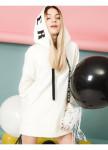 Изображение Худи женское молочного цвета Street style