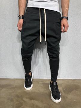 Изображение Штаны галифе зауженные со шнурками черные MFStore