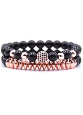 Изображение Комплект браслетов розовое золото Sparkling