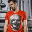 Изображение Футболка красная с детализированным черепом Mfstore