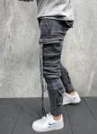 Изображение Дизайнерские джинсы карго серые MFStore