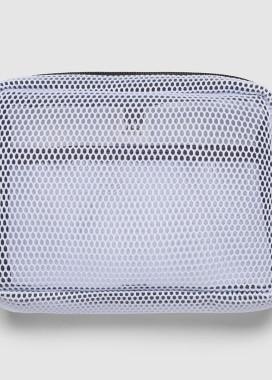 Изображение Прозрачная белая сумка на пояс бананка квадратной формы