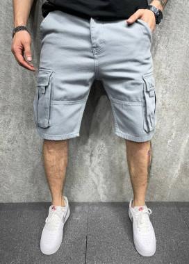 Изображение Шорты серые с накладными карманами MFStore