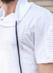 Изображение Футболка белая с капюшоном Mfstore