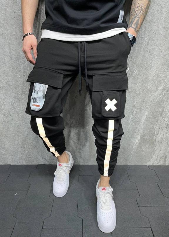 Изображение Брюки спортивные с крестиком и линиями MFStore